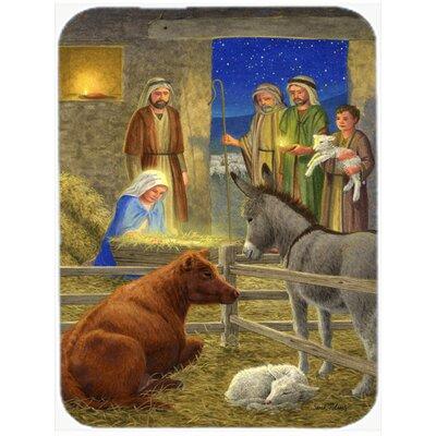 Nativity Scene Glass Cutting Board