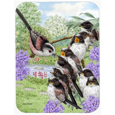 Long Tailed Tits Glass Cutting Board