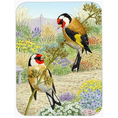 European Goldfinches Glass Cutting Board