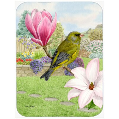 European Greenfinch Glass Cutting Board