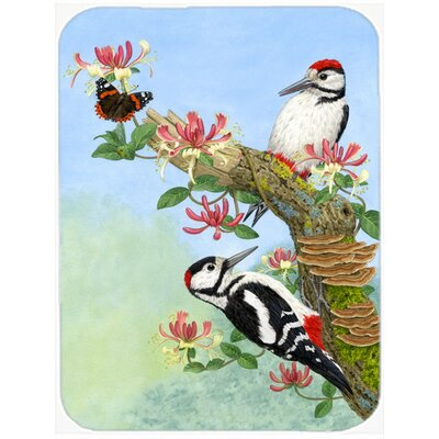 Woodpeckers Glass Cutting Board