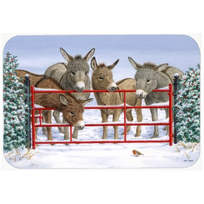 Donkeys and Robin Glass Cutting Board