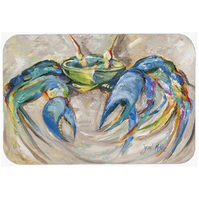 Crab in Beige Background Glass Cutting Board