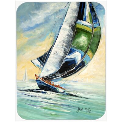 Cruising the Coast Sailboats Glass Cutting Board