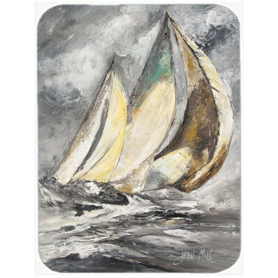 Boat Full Sailboats Glass Cutting Board