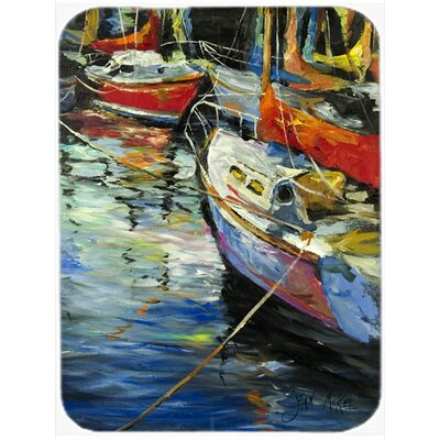 Boat Talk Sailboats Glass Cutting Board