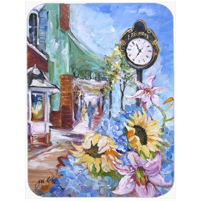 Fairhope Clock Glass Cutting Board