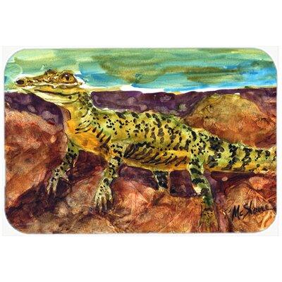 Alligator Brown Glass Cutting Board
