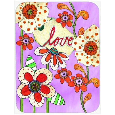 Love is Blooming Valentine's Day Glass Cutting Board