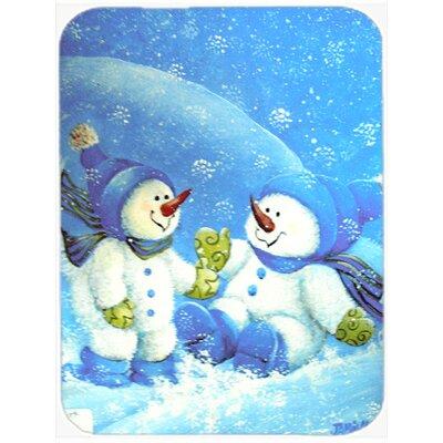 Snow Baby Snowman Glass Cutting Board