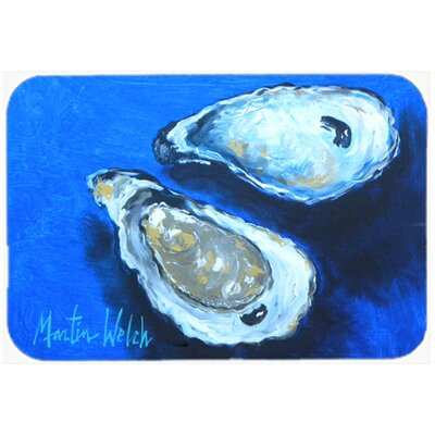 Oysters Seafood Four Glass Cutting Board