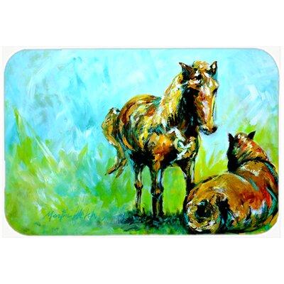 Horse Grazin Glass Cutting Board
