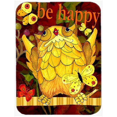 Happy Happy Day Owl Glass Cutting Board