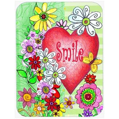 Smile Valentine's Day Glass Cutting Board