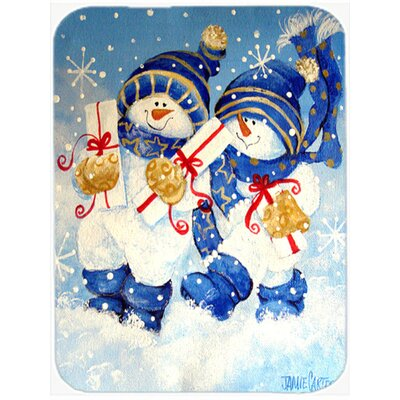Holiday Delivery Snowman Glass Cutting Board