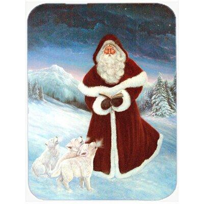 A Spirit of Harmony Santa Claus Glass Cutting Board