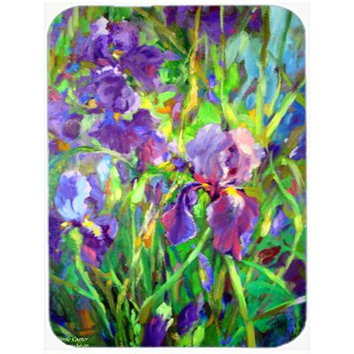 Iris by the Well Glass Cutting Board