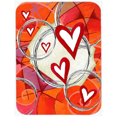 Circle of Love Valentine's Day Glass Cutting Board