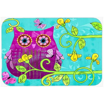 Sittin in the Flowers Owl Glass Cutting Board