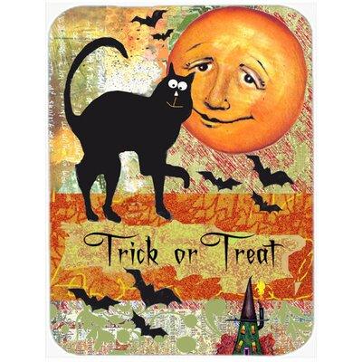 Trick or Treat Moon Halloween Glass Cutting Board