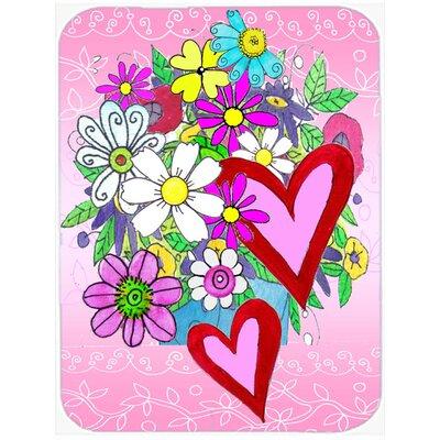 True Love Bouquet Valentine's Day Glass Cutting Board