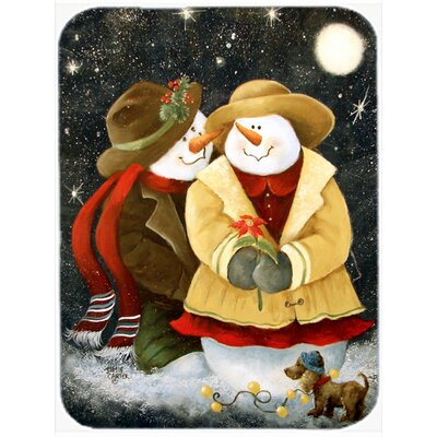 Love at Christmas Snowman Glass Cutting Board