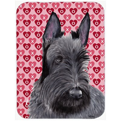 Valentine Hearts Scottish Terrier Hearts Love and Valentine's Day Glass Cutting Board