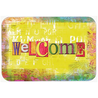 Artsy Welcome Glass Cutting Board
