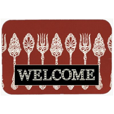 Serving Spoons Welcome Glass Cutting Board