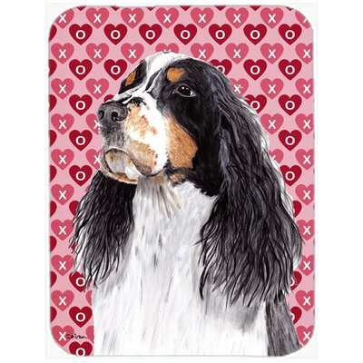 Valentine Hearts Springer Spaniel Hearts Love and Valentine's Day Glass Cutting Board