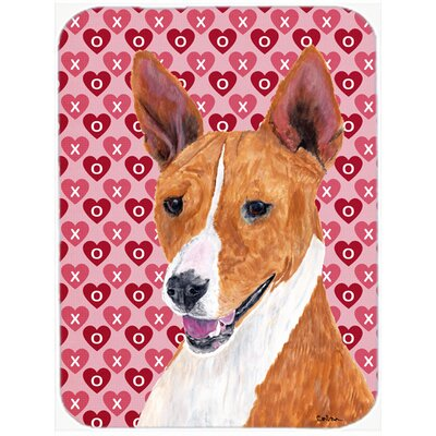 Valentine Hearts Basenji Hearts Love and Valentine's Day Portrait Glass Cutting Board