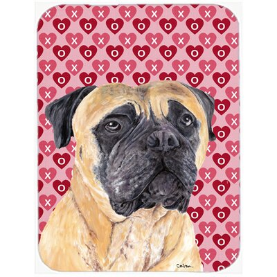 Valentine Hearts Mastiff Hearts Love and Valentine's Day Portrait Glass Cutting Board