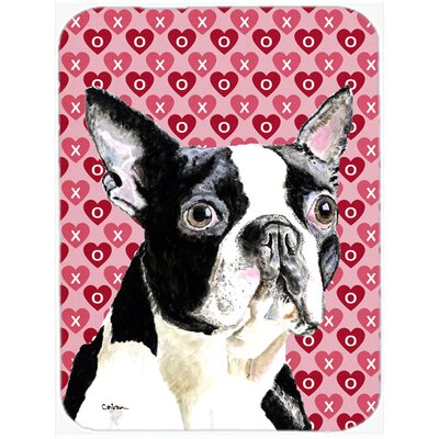 Valentine Hearts Boston Terrier Hearts Love and Valentine's Day Glass Cutting Board