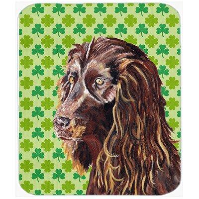 Boykin Spaniel St Patrick's Irish Glass Cutting Board