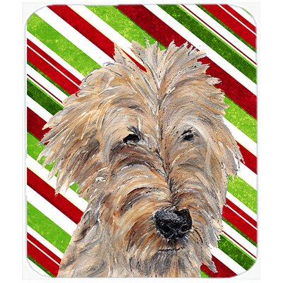 Goldendoodle Candy Cane Christmas Glass Cutting Board