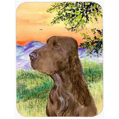 Field Spaniel Glass Cutting Board