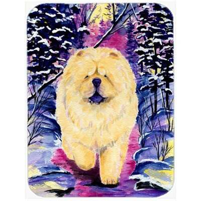 Chow Chow Purple/Black Glass Cutting Board