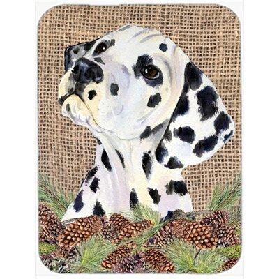 Dalmatian and Pine Cone Glass Cutting Board