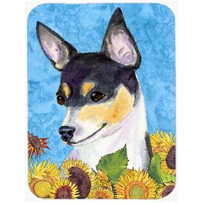 Fox Terrier Glass Cutting Board