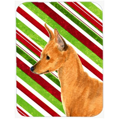 Min Pin Candy Cane Holiday Christmas Glass Cutting Board