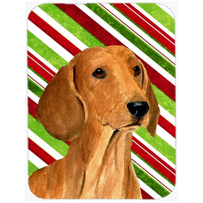Dachshund Candy Cane Holiday Christmas Unbreakable Glass Cutting Board