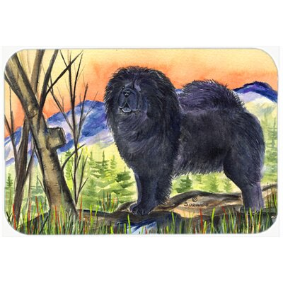 Chow Chow and Mountain Glass Cutting Board