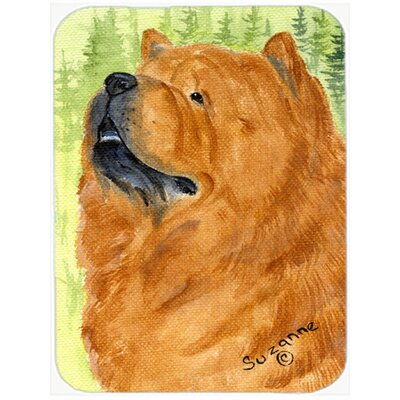 Chow Chow Rectangle Brown Glass Cutting Board