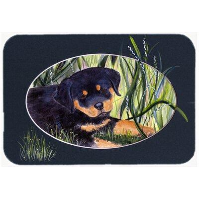 Rottweiler Rectangle Glass Cutting Board