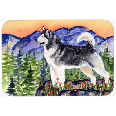 Alaskan Malamute Rectangle Glass Cutting Board