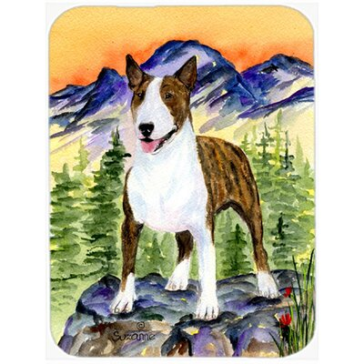 Bull Terrier and Mountain Glass Cutting Board