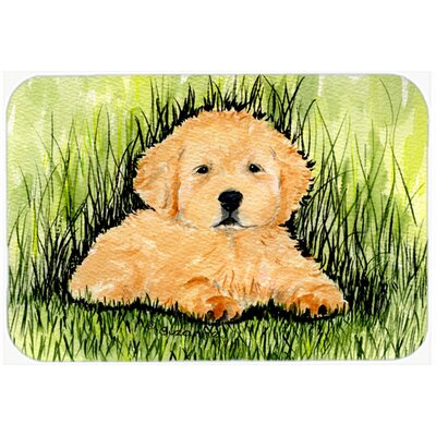 Golden Retriever Glass Cutting Board