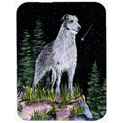 Starry Night Scottish Deerhound Glass Cutting Board