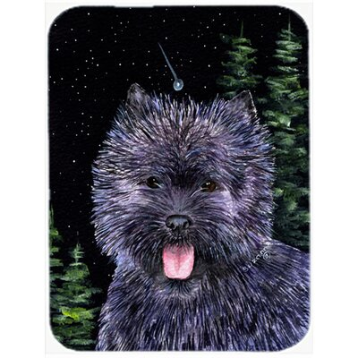 Starry Night Cairn Terrier Glass Cutting Board