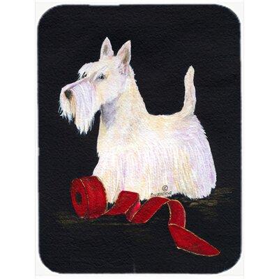 White Scottish Terrier Glass Cutting Board